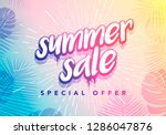 Vector Trendy Hot Summer Sale...