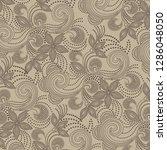 ethnic pattern. decorative... | Shutterstock .eps vector #1286048050