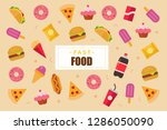 flat food background  | Shutterstock .eps vector #1286050090