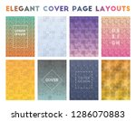 elegant cover page layouts.... | Shutterstock .eps vector #1286070883