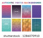 authentic poster backgrounds.... | Shutterstock .eps vector #1286070910