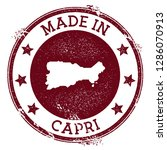 made in capri stamp. grunge... | Shutterstock .eps vector #1286070913