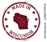 made in wisconsin stamp. grunge ... | Shutterstock .eps vector #1286070916