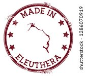 made in eleuthera stamp. grunge ... | Shutterstock .eps vector #1286070919