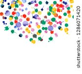watercolor confetti on white... | Shutterstock .eps vector #1286071420
