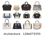 woman bags designer ladies... | Shutterstock .eps vector #1286073550