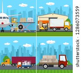 set of transportation and air...   Shutterstock .eps vector #1286073559