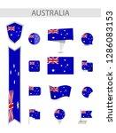 australia flat flag collection. ... | Shutterstock .eps vector #1286083153