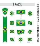brazil flat flag collection.... | Shutterstock .eps vector #1286083156