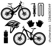 bicycles. set of bicycle parts. ... | Shutterstock .eps vector #1286083549