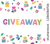 giveaway cute hand drawn...   Shutterstock .eps vector #1286086936