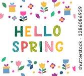 hello spring letterig for...   Shutterstock .eps vector #1286086939