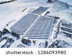 solar power plant  winter view | Shutterstock . vector #1286093980