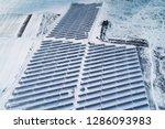 solar power plant  winter view | Shutterstock . vector #1286093983