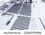 solar power plant  winter view | Shutterstock . vector #1286093986