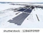 solar power plant  winter view | Shutterstock . vector #1286093989