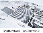 solar power plant  winter view | Shutterstock . vector #1286094010