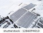 solar power plant  winter view | Shutterstock . vector #1286094013