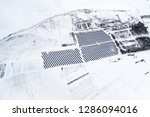 solar power plant  winter view | Shutterstock . vector #1286094016