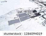 solar power plant  winter view | Shutterstock . vector #1286094019