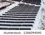solar power plant  winter view | Shutterstock . vector #1286094040