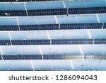 solar power plant  winter view | Shutterstock . vector #1286094043