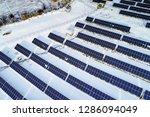 solar power plant  winter view | Shutterstock . vector #1286094049