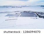 solar power plant  winter view | Shutterstock . vector #1286094070