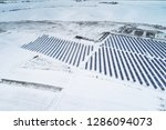 solar power plant  winter view | Shutterstock . vector #1286094073