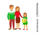 couple with kid family on...   Shutterstock .eps vector #1286096986