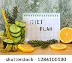 healthy eating  dieting ... | Shutterstock . vector #1286100130