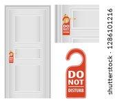 door hanger tags for room in... | Shutterstock .eps vector #1286101216