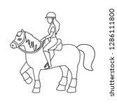 vector design of horseback and... | Shutterstock .eps vector #1286111800