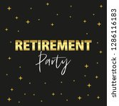 happy retirement party banner... | Shutterstock .eps vector #1286116183