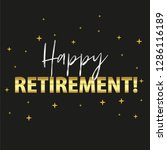 happy retirement party banner... | Shutterstock .eps vector #1286116189
