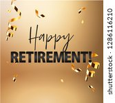 happy retirement party banner... | Shutterstock .eps vector #1286116210