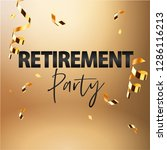happy retirement party banner... | Shutterstock .eps vector #1286116213