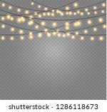 christmas lights isolated... | Shutterstock .eps vector #1286118673