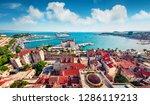 aerial summer cityscape of... | Shutterstock . vector #1286119213