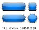 blue glass 3d buttons. with... | Shutterstock .eps vector #1286122510