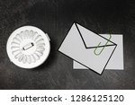 envelope with clip symbol of... | Shutterstock . vector #1286125120
