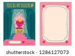 cute vector greeting card for... | Shutterstock .eps vector #1286127073