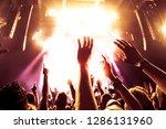 concert crowd at rock concert | Shutterstock . vector #1286131960