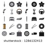 isolated object of auto and... | Shutterstock .eps vector #1286132413