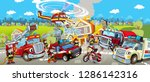 cartoon stage with different... | Shutterstock . vector #1286142316