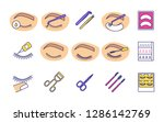 eyelash extension color icons... | Shutterstock .eps vector #1286142769