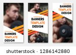 set of vector web banners with... | Shutterstock .eps vector #1286142880