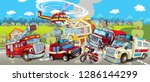 cartoon stage with different... | Shutterstock . vector #1286144299