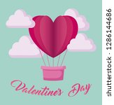 valentines day card with... | Shutterstock .eps vector #1286144686