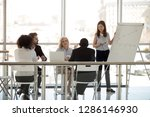 multiracial company team... | Shutterstock . vector #1286146930